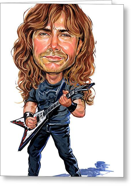 Awesome Greeting Cards - Dave Mustaine Greeting Card by Art
