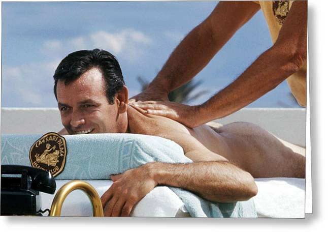 David Greeting Cards - David Janssen Greeting Card by Silver Screen