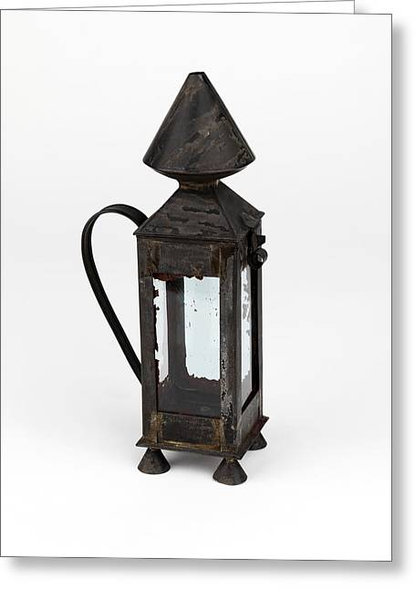 Safety Test Greeting Cards - Davy miners lamp Greeting Card by Science Photo Library