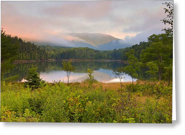 Photogaphy Greeting Cards - Dawn Reflections On Otter Creek Greeting Card by Stephen  Vecchiotti
