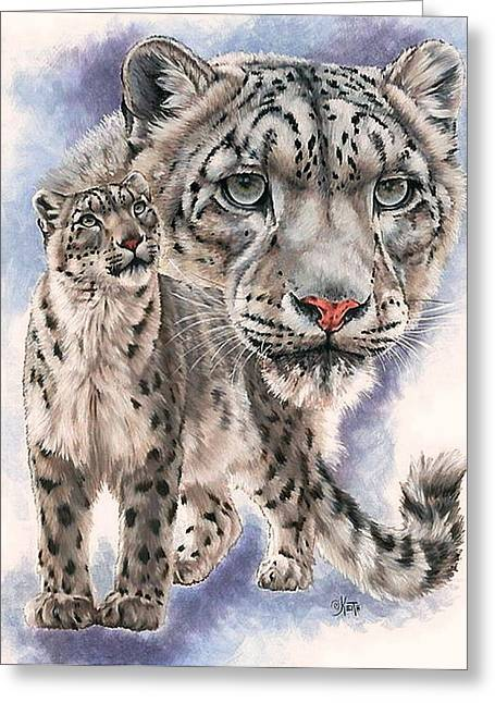 Wildcats Mixed Media Greeting Cards - Dazzler Greeting Card by Barbara Keith