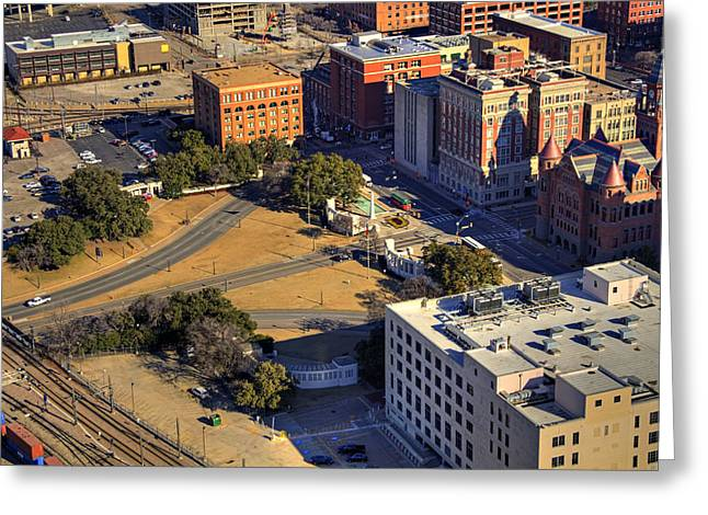 Depository Greeting Cards - Dealey Plaza Greeting Card by Ricky Barnard