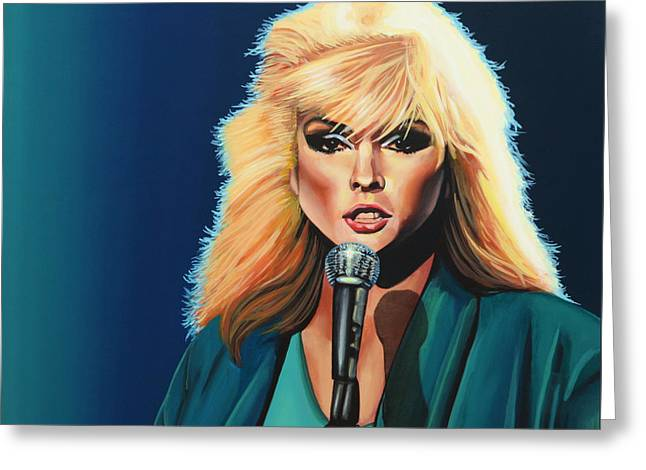 Deborah Harry Or Blondie Painting Greeting Card by Paul Meijering