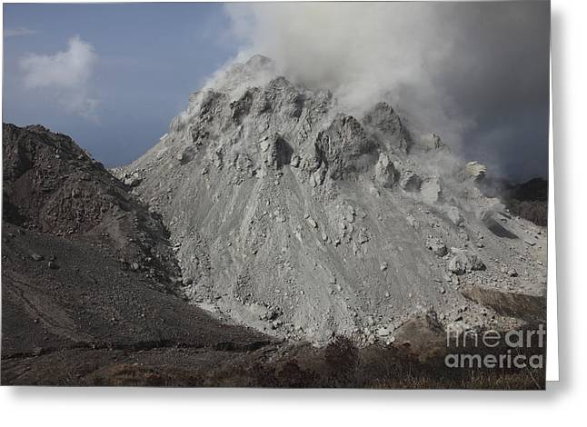 Vulcanology Greeting Cards - Degassing Rerombola Lava Dome Greeting Card by Richard Roscoe