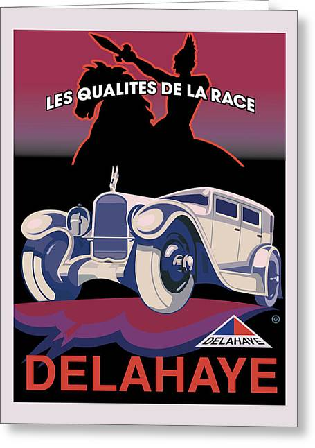 Vector Posters Greeting Cards - Delahaye Greeting Card by Gary Grayson