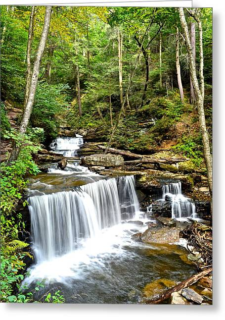 Utopia Greeting Cards - Delaware Falls Greeting Card by Frozen in Time Fine Art Photography