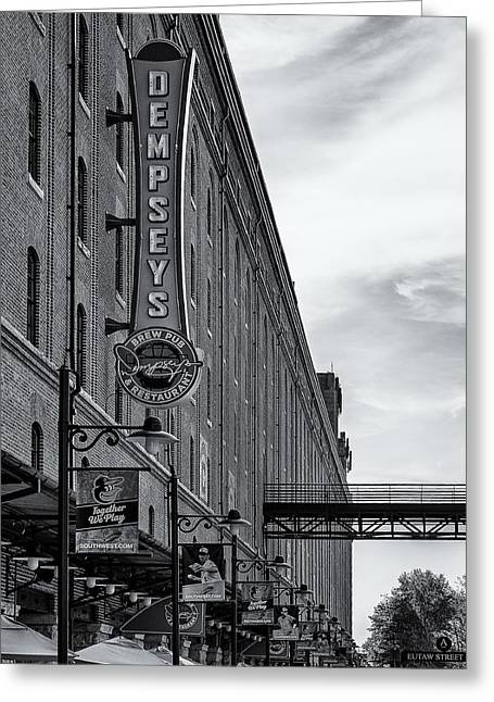 Baltimore Baseball Parks Greeting Cards - Dempseys Brew Pub Greeting Card by Susan Candelario