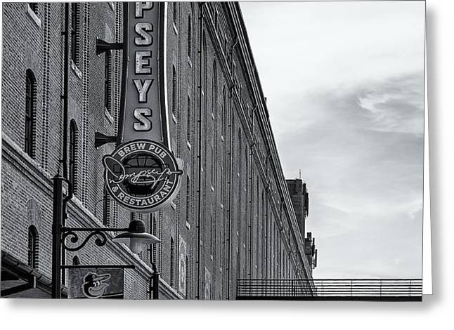 Dempseys Brew Pub Greeting Card by Susan Candelario