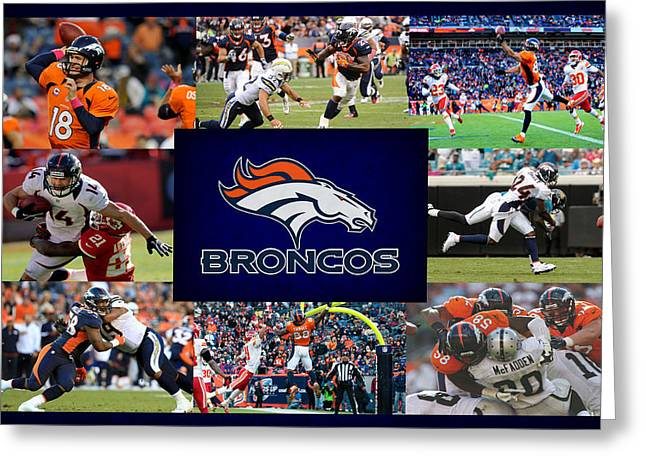 Denver Greeting Cards - Denver Broncos Greeting Card by Joe Hamilton