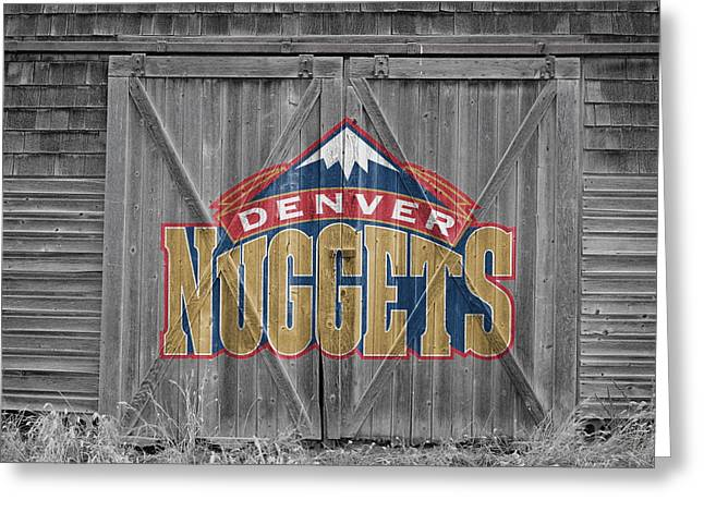 Dunk Photographs Greeting Cards - Denver Nuggets Greeting Card by Joe Hamilton