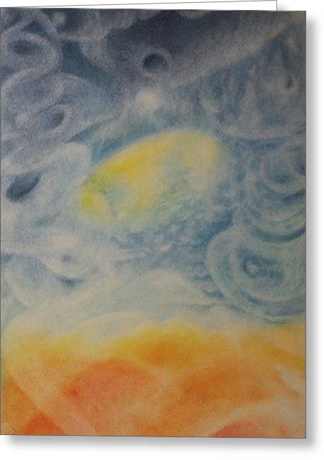 Mystical Landscape Pastels Greeting Cards - Departure Greeting Card by Joel Rudin