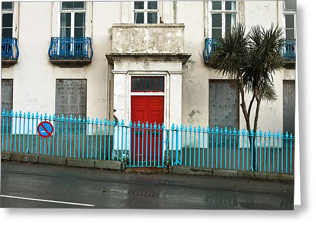 Recession Greeting Cards - Derelict house Greeting Card by Tom Gowanlock