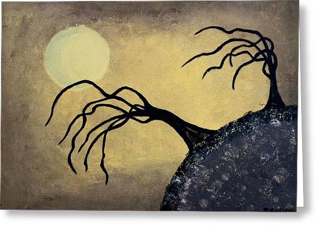 Fantasy Tree Greeting Cards - Desert Hill Greeting Card by Sylvia Sotuyo