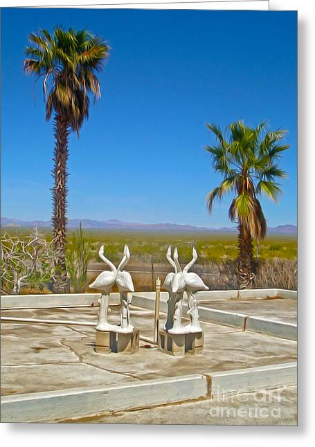 Desert Oasis Greeting Card by Gregory Dyer