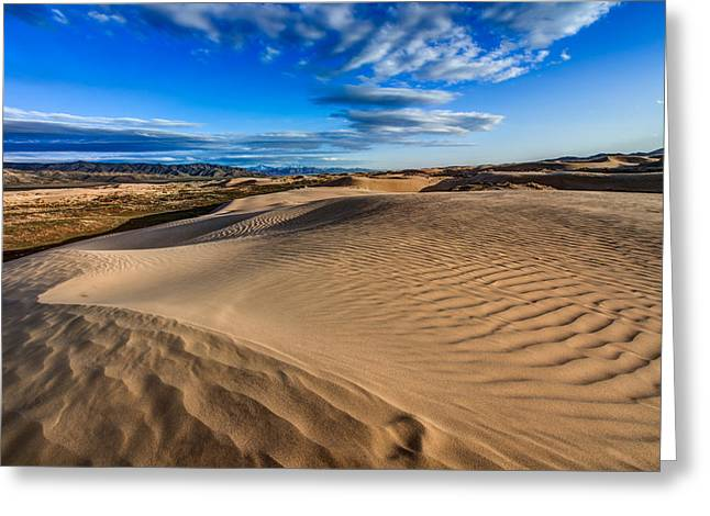 Sand Dunes Greeting Cards - Desert Texture Greeting Card by Chad Dutson