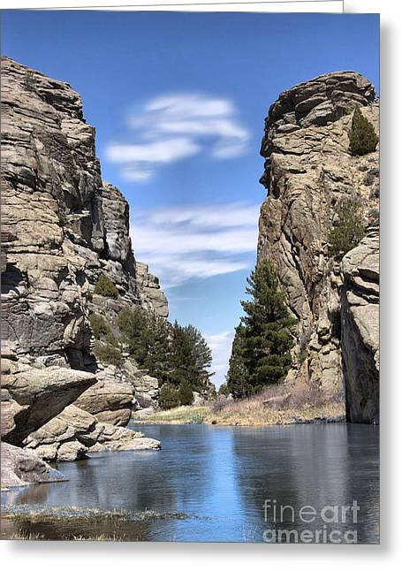 Skies Ceramics Greeting Cards - Devils Gate on the Sweetwater Greeting Card by Nena Trapp