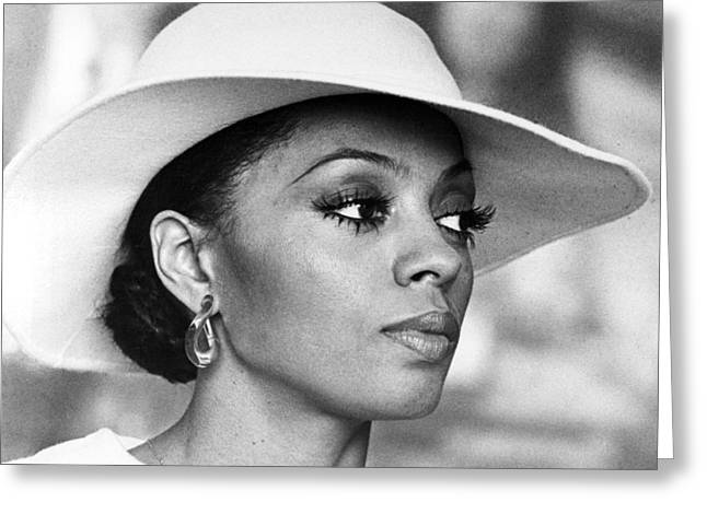 Mahogany Greeting Cards - Diana Ross in Mahogany  Greeting Card by Silver Screen