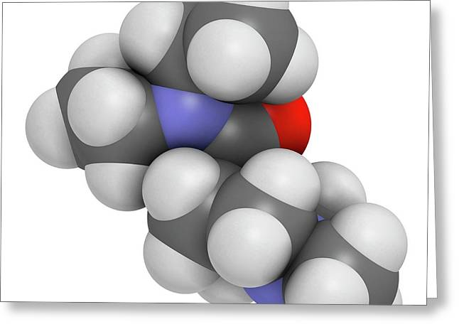 Diethylcarbamazine Anthelmintic Drug Greeting Card by Molekuul