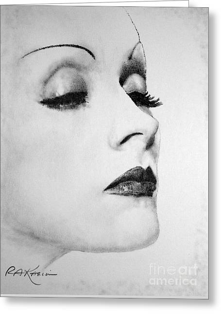 Kaelin Drawings Greeting Cards - Dietrich Greeting Card by Roy Kaelin