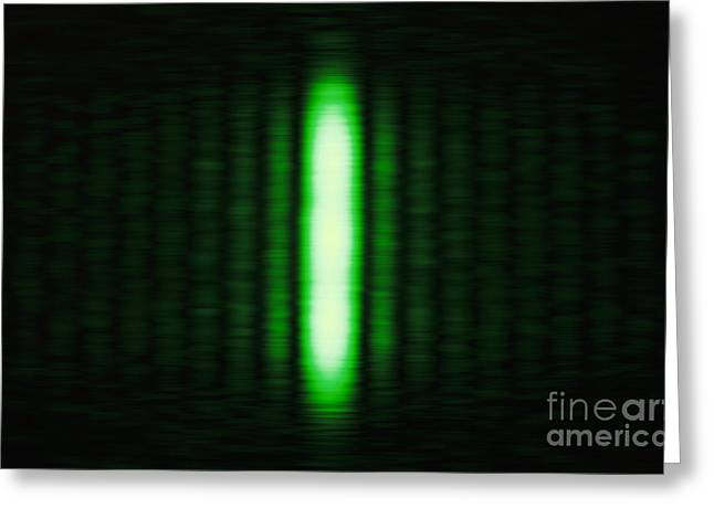 Helium Greeting Cards - Diffraction On A Slit Greeting Card by GIPhotoStock