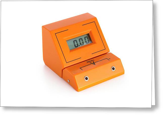 Digital Voltmeter Greeting Card by Science Photo Library