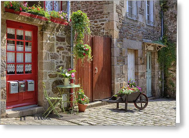 Picturesque Greeting Cards - Dinan - Brittany Greeting Card by Joana Kruse