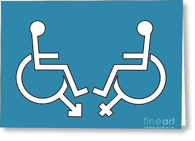 Human Gender Greeting Cards - Disability Sexuality, Conceptual Artwork Greeting Card by Stephen Wood