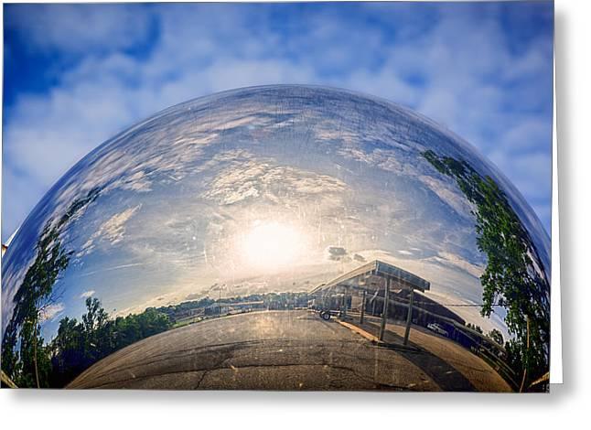 Distorted Reflection Greeting Card by Sennie Pierson
