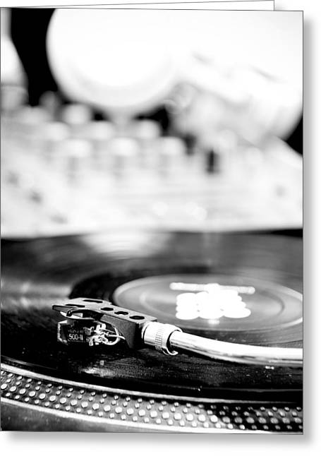 Bpm Greeting Cards - DJ Table Greeting Card by Admir Gorcevic