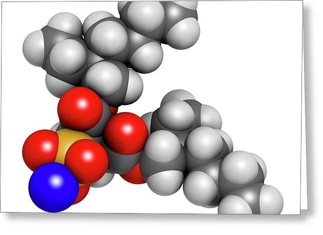 Docusate Sodium Stool Softener Drug Greeting Card by Molekuul