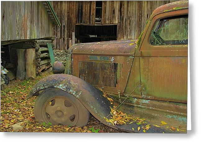 Autumn In The Country Greeting Cards - Dodge In The Country Greeting Card by Dan Sproul