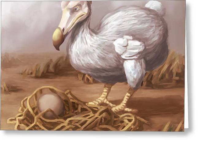 Raphus Cucullatus Greeting Cards - Dodo Bird, Illustration Greeting Card by Spencer Sutton