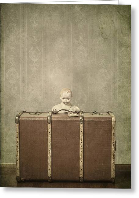 Doll In Suitcase Greeting Card by Joana Kruse