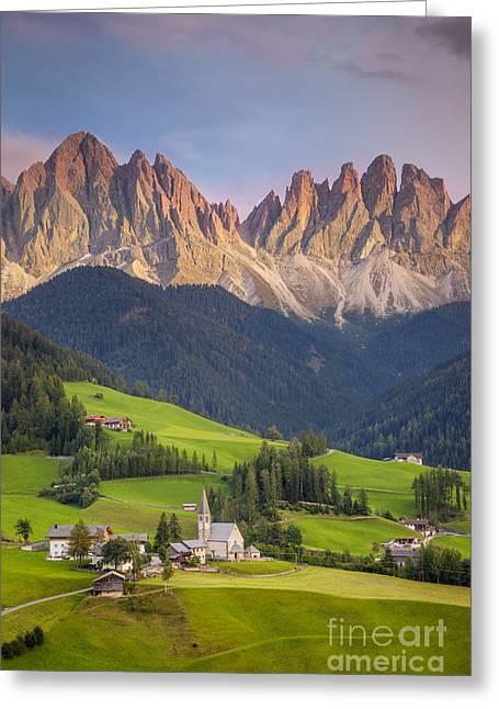 Italian Landscapes Greeting Cards - Dolomites from Val di Funes Greeting Card by Brian Jannsen