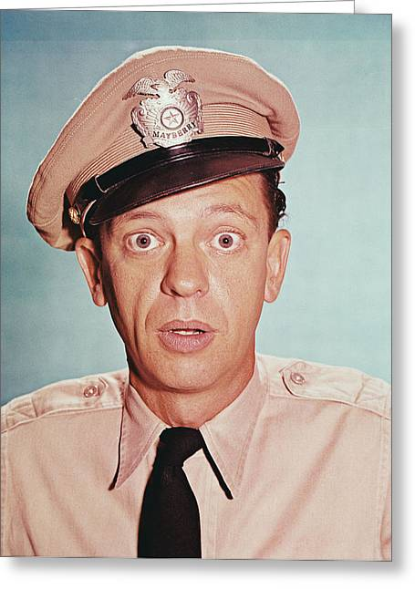 Andy Griffith Show Greeting Cards - Don Knotts in The Andy Griffith Show Greeting Card by Silver Screen