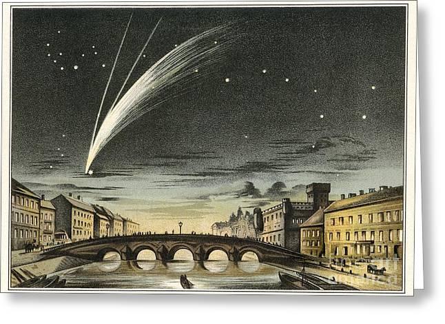 Long Period Comet Greeting Cards - Donatis Comet Of 1858, Artwork Greeting Card by Detlev van Ravenswaay