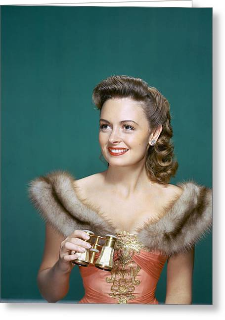 Donna Greeting Cards - Donna Reed Greeting Card by Silver Screen