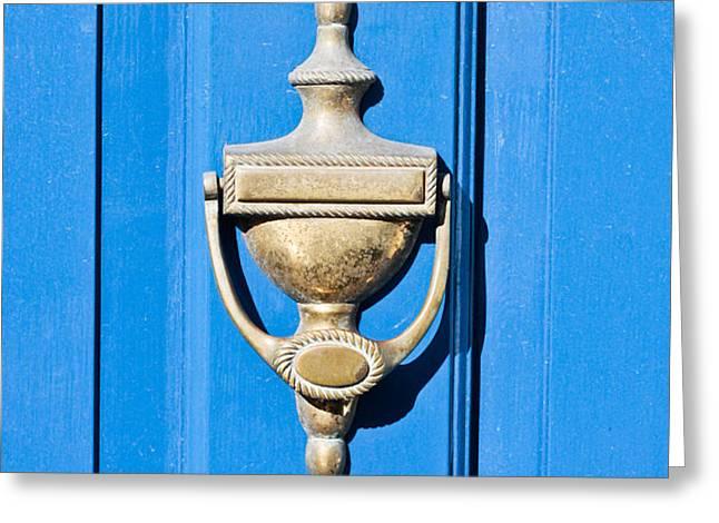 Door knocker Greeting Card by Tom Gowanlock