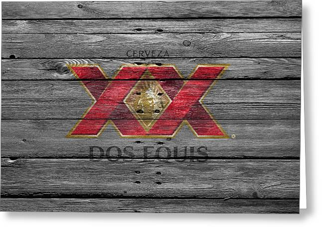 Saloons Greeting Cards - Dos Equis Greeting Card by Joe Hamilton