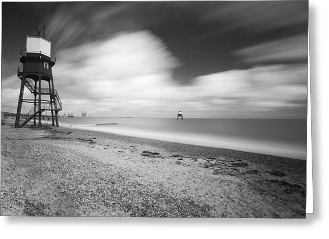 Harwich Greeting Cards - Dovercourt Essex Lighthouse  Greeting Card by David French
