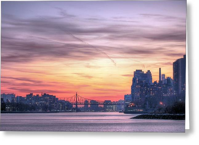 Harlem River Greeting Cards - Down River Greeting Card by JC Findley