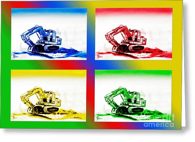Dozer Greeting Cards - Dozer Mania II Greeting Card by Kip DeVore
