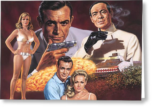 Connery Greeting Cards - Dr. No   Greeting Card by Dick Bobnick