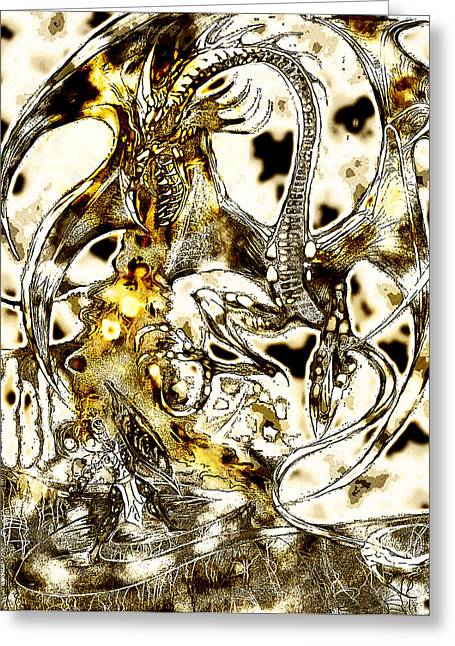 Fantasy World Greeting Cards - Dragon Special Edition Greeting Card by Jazzboy