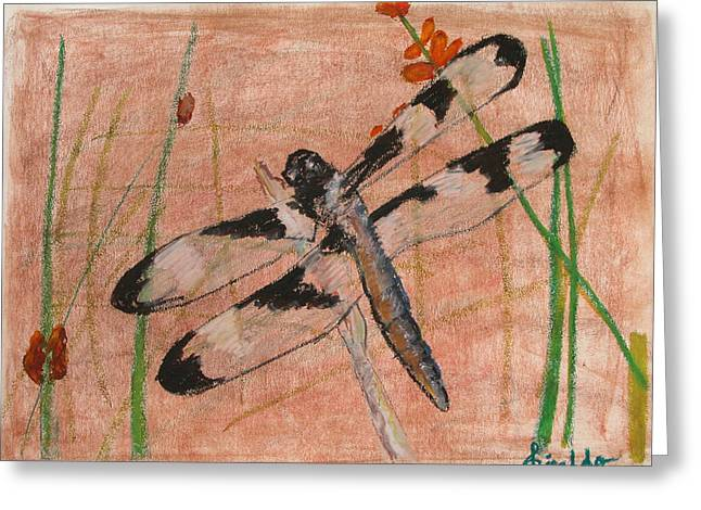 Dragonflies Pastels Greeting Cards - Dragonfly 2 Greeting Card by Giraldo Lee