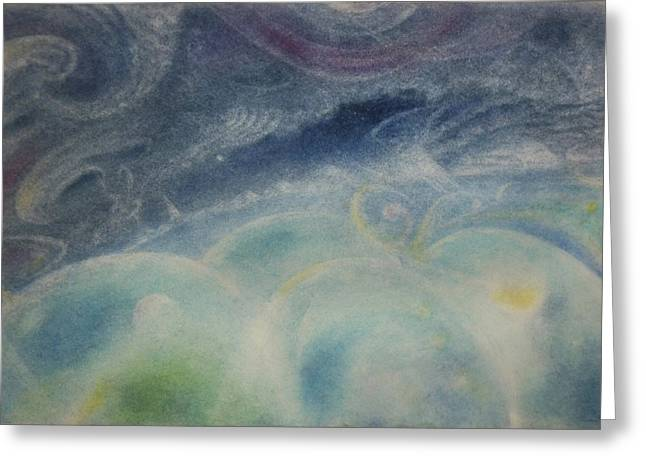 Mystical Landscape Pastels Greeting Cards - Dream Night Greeting Card by Joel Rudin