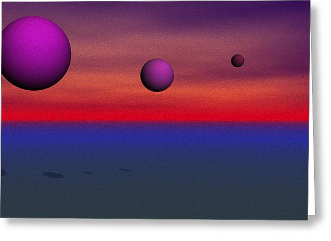 Dream Scape Greeting Cards - Dream Scapes Series One Greeting Card by Sir Josef Putsche
