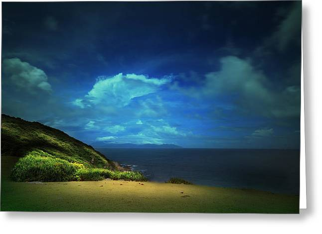 China Beach Greeting Cards - Dreams Island Greeting Card by Afrison Ma