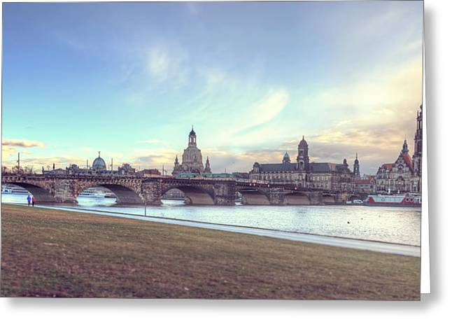 Deutschland Pyrography Greeting Cards - Dresden Greeting Card by Steffen Gierok
