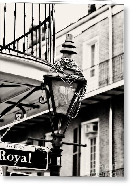 Royal Street Greeting Cards - Dressed for the Party Greeting Card by Scott Pellegrin
